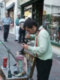 Photograph of Buenos Aires puppet master - Argentina travelogues